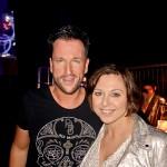 So trifft man sich wieder - kurz vor dem Auftritt beim Schlagerwelle-Festival: Michael Wendler und Patricia Gabriela
